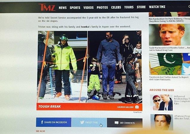 媒体:特朗普五岁的孙子在滑雪时腿部受伤