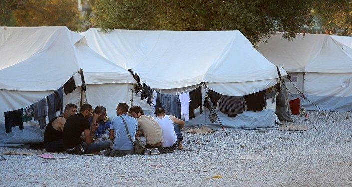 大批难民从土耳其涌入希腊