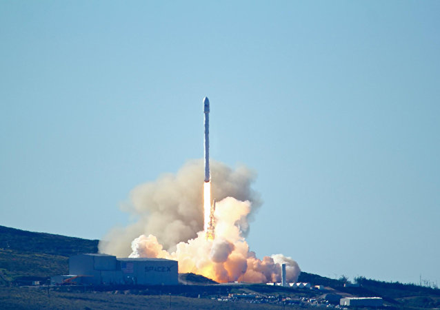 Space-X's Falcon 9 rocket launch