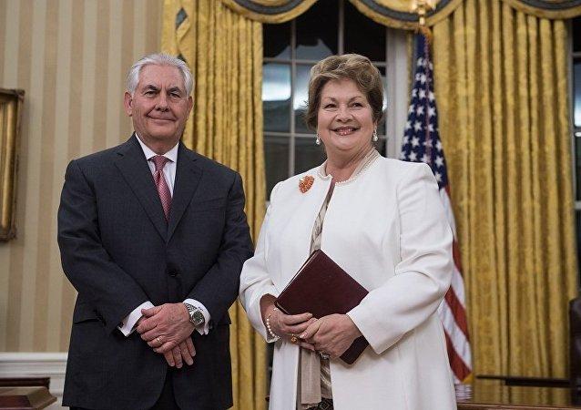 美国国务卿蒂勒森与其夫人
