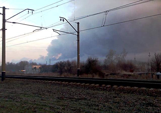 乌东部两个共和国否认与弹药库火灾有关