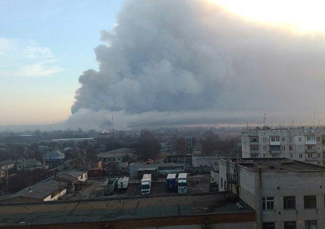 乌哈尔科夫州军火库火灾致10亿美元弹药被毁