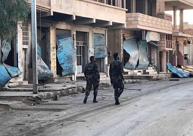 消息:叙利亚军队解放哈马北部的考卡普村