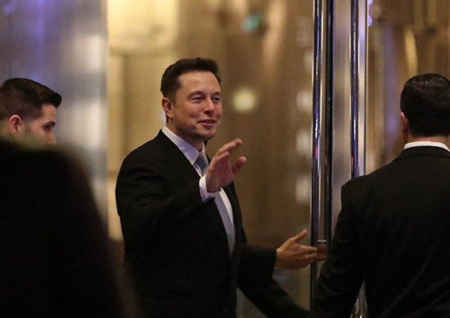 美国特斯拉电动汽车公司(Tesla Motors)首席执行官埃隆·马斯克(Elon Musk)