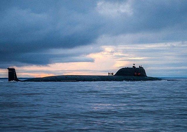 """俄罗斯""""亚森-M""""级核潜艇首艇""""喀山""""号下水"""