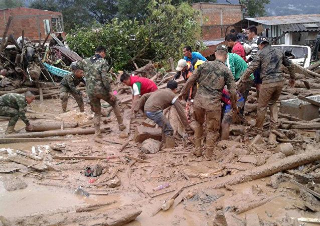 哥伦比亚自然灾害死亡人数超过270人