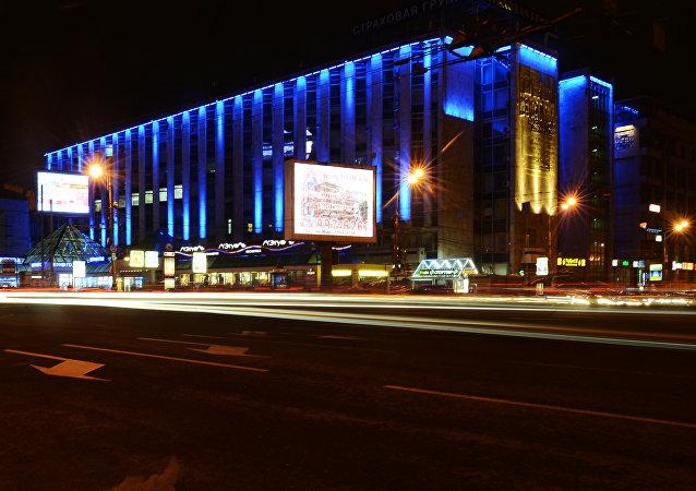 为支持自闭症患者,莫斯科中心建筑将亮起蓝色灯光