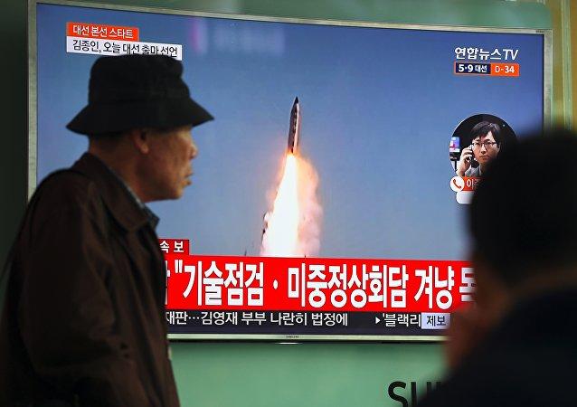 朝鲜5日上午在咸镜南道新浦一带朝向半岛东部海域发射不明飞行物