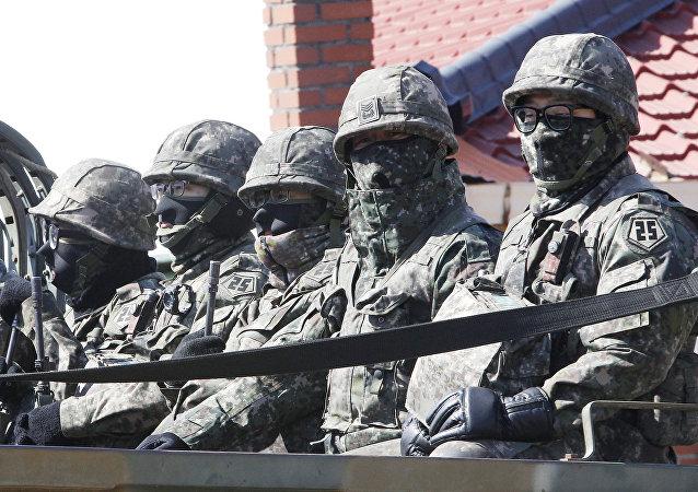 大选在即韩军保持加强安全措施