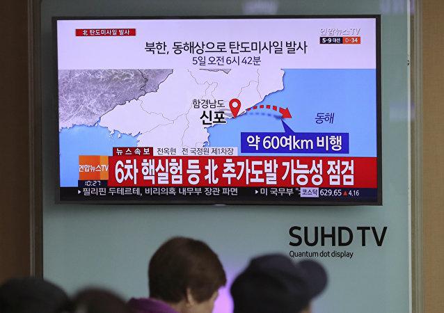 韩国密切关注朝鲜可能准备发射弹道导弹的消息