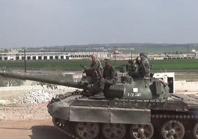 叙利亚军队数天来击退了1400平方公里沙漠区域内的武装分子
