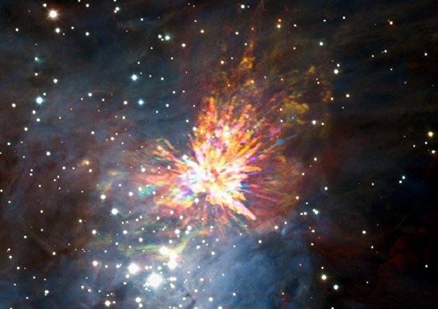 天文学家首次看到新生恒星爆炸