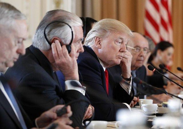 """特朗普与阿布扎比王储讨论也门、叙利亚及""""伊朗威胁""""问题"""