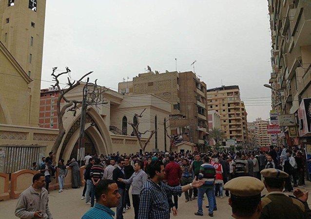 """外媒:""""伊斯兰国""""宣布为埃及教堂数起爆炸负责"""