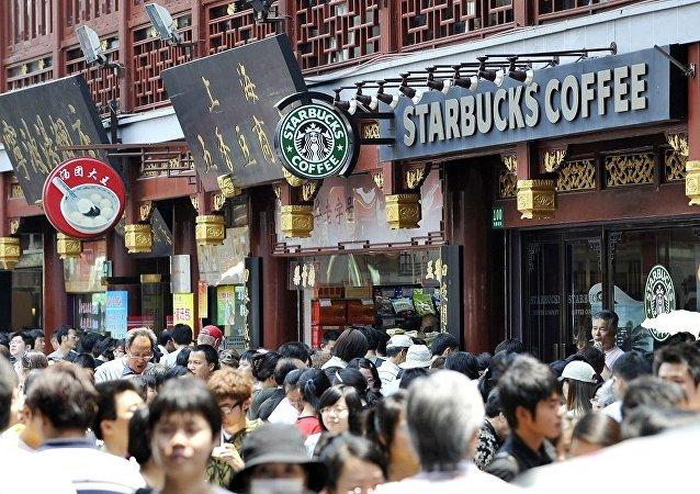 """上海""""星巴克""""咖啡馆"""