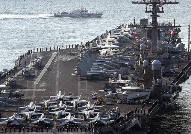 U.S. aircraft carrier USS Carl Vinson