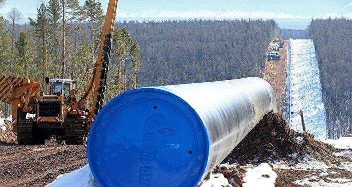 """俄气:俄气2017年年底前将铺设完成1380公里长的""""西伯利亚力量""""天然气管道"""