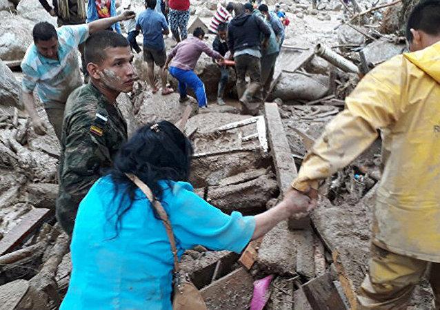哥伦比亚自然灾害遇难者人数升至320人