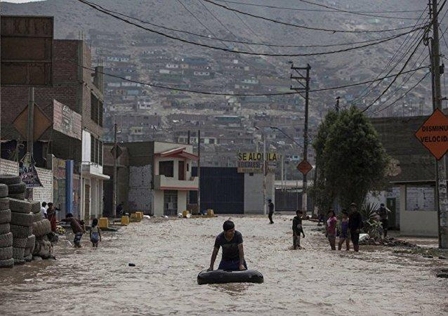 秘鲁洪灾死亡人数超110人