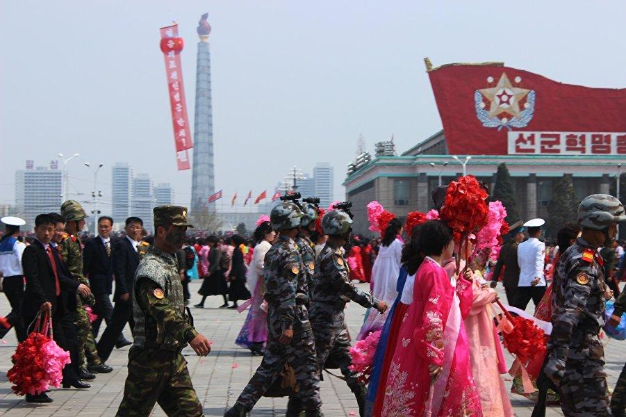 朝鲜领导人金日成诞辰105周年纪念活动。