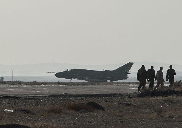 在叙利亚设立的美国军事基地