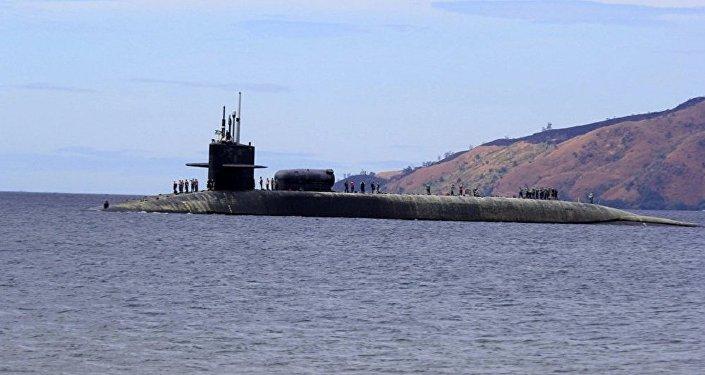 """美""""密歇根""""号核潜艇(图片资料)"""