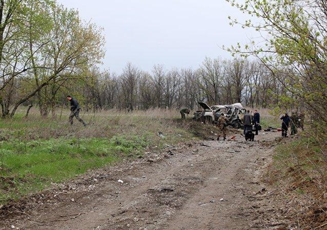 卢甘斯克民兵指责四名乌军指挥官涉嫌欧安观察团车队遇袭案