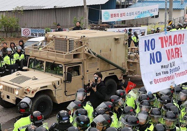 韩国防部证实开始安装萨德设备