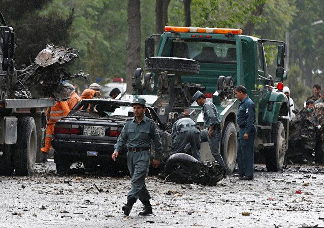 媒体:IS宣称对喀布尔北约车队袭击事件负责
