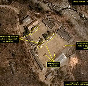 朝鲜核试验场出现人员活动