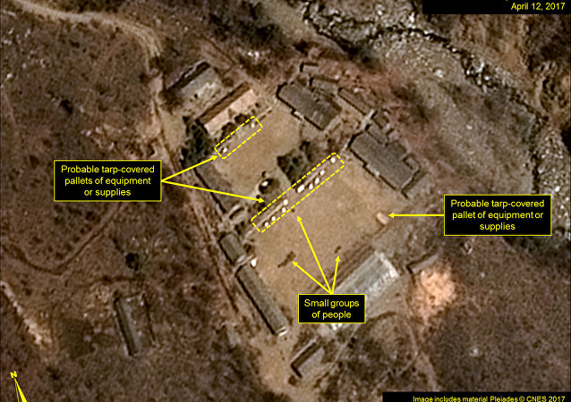 North Korea's Punggye-ri Nuclear Test Site is seen in commercial satellite imagery taken April 12, 2017