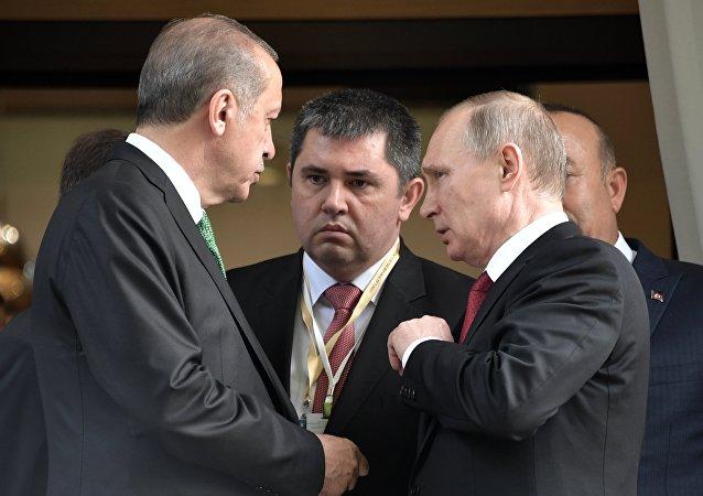 土耳其总统埃尔多安与俄罗斯总统普京