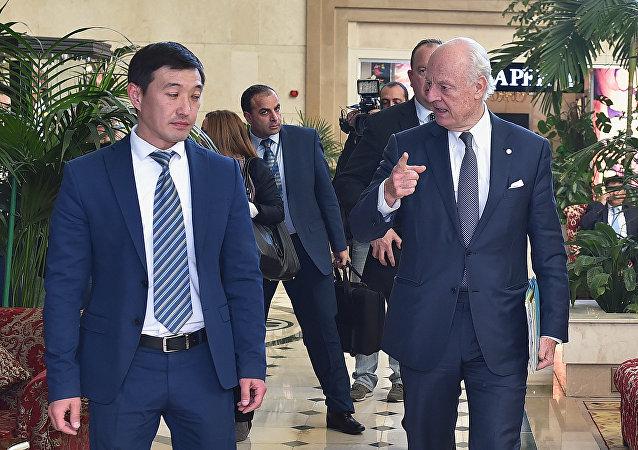叙问题日内瓦会谈开始 联合国特使会见大马士革代表团
