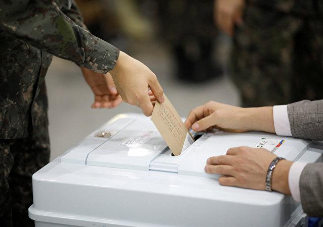 韩国总统选举投票