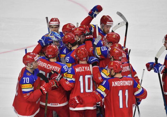 俄罗斯冰球国家队击败捷克队进入世界冰球锦标赛半决赛