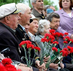 頓涅茨克1萬多人參加勝利日慶祝活動