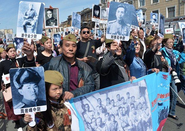 6000多中国游客在俄滨海边疆区庆祝胜利日