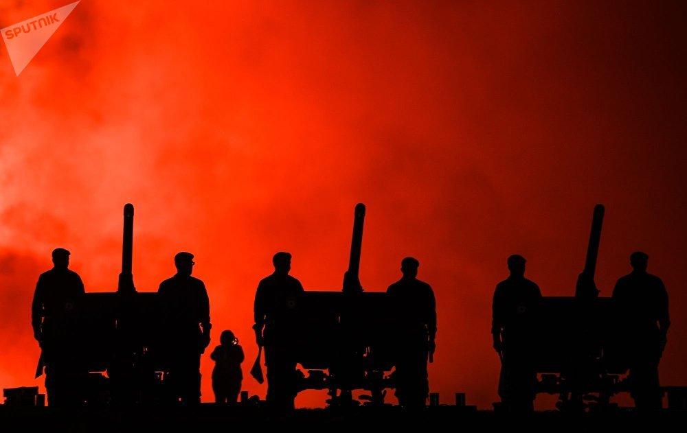 莫斯科俯首山上的勝利日煙花