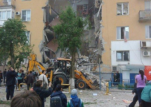 俄伏尔加格勒燃气爆炸致11伤