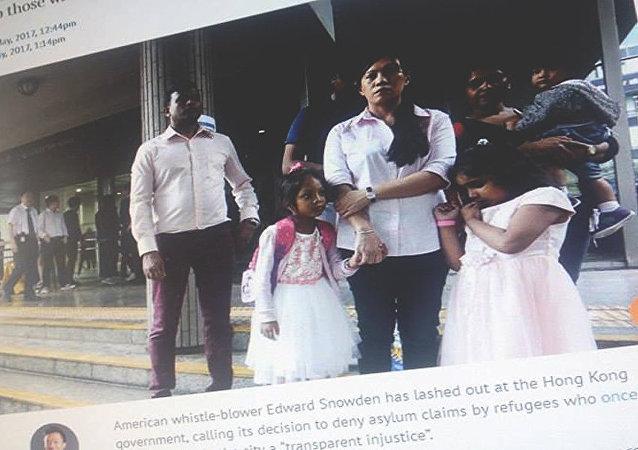 斯诺登谴责香港拒为助其藏匿难民家庭提供庇护