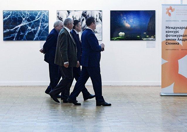 Посетители на открытии IV фестиваля Первозданная Россия в Москве
