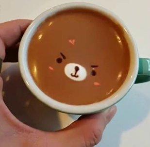 讓人捨不得喝的咖啡藝術品