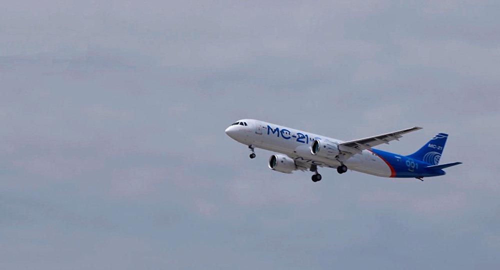 MS-21客机完成第二次试验飞行