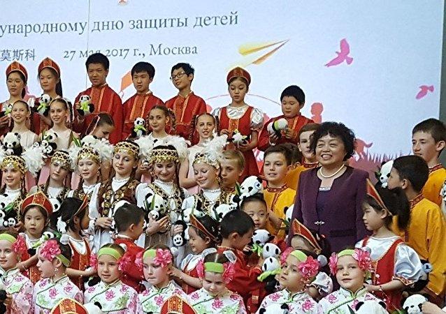 俄中儿童大联欢,俄中友谊永相传
