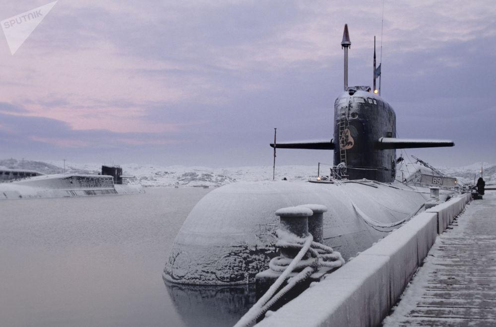 """""""安泰""""级核潜艇。"""
