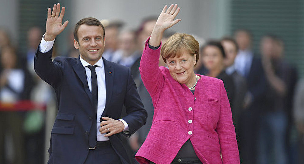 德国总理默克尔与法国总统马克龙