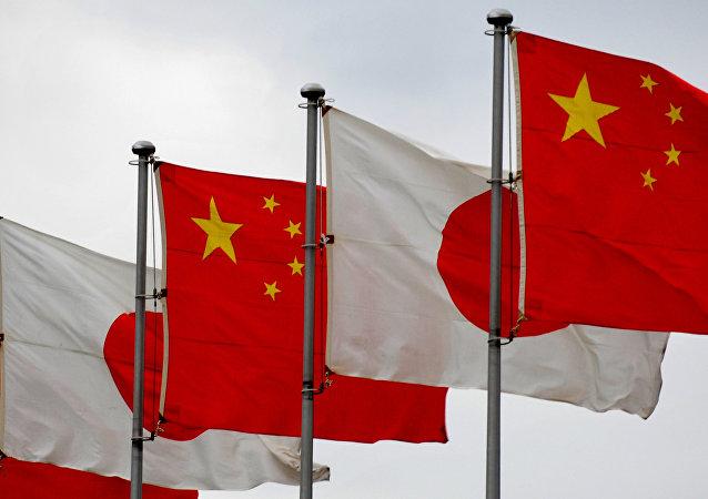中日兩國國旗