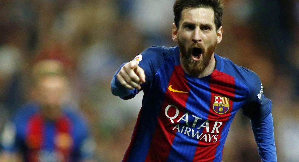 巴塞罗那足球队员击败拉斯帕尔马斯体育联盟
