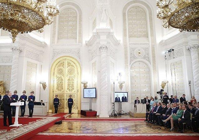 普京在俄罗斯日的演讲中称:我们强化了国家的主权和人民的多样性