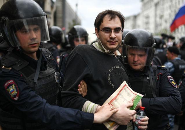 莫斯科和聖彼得堡兩市約500名非法集會者被警方拘留